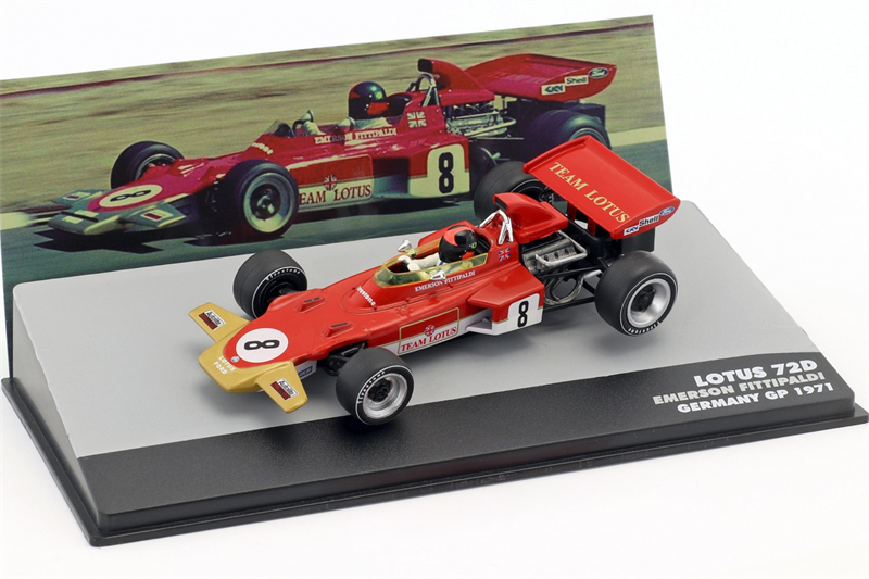 Emerson Fittipaldi Lotus 72D #8 Winner Great Britain GP Formula 1 1972 1/43