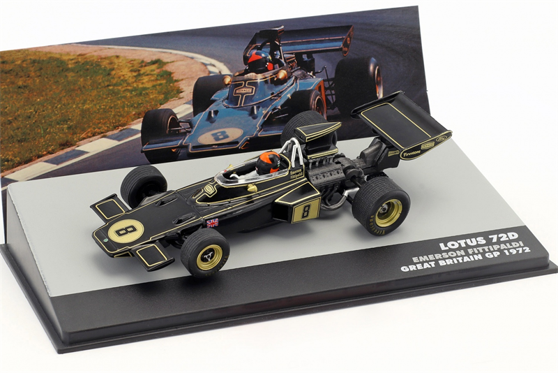 Emerson Fittipaldi Lotus 72D #8 Winner Great Britain GP Formula 1 1972 1/43