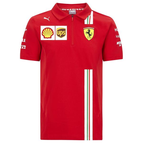 Ferrari F1 Mens Team Polo Shirt red