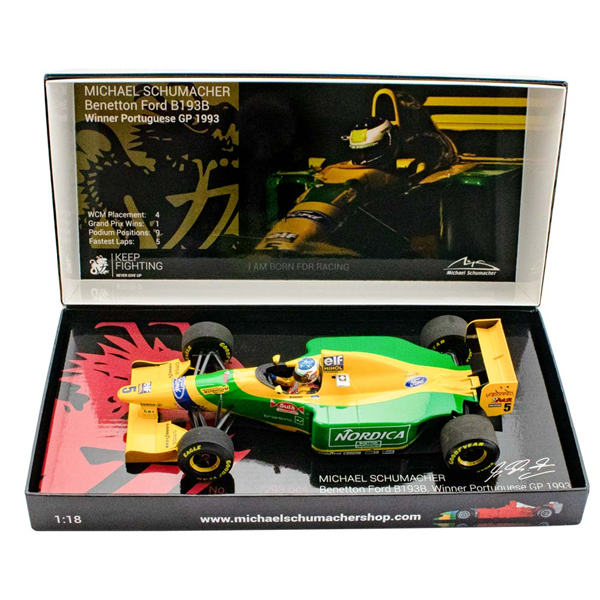 MINICHAMPS MODEL Model Michael Schumacher Benetton Ford B193B Portugal GP Winner 1993 1/18