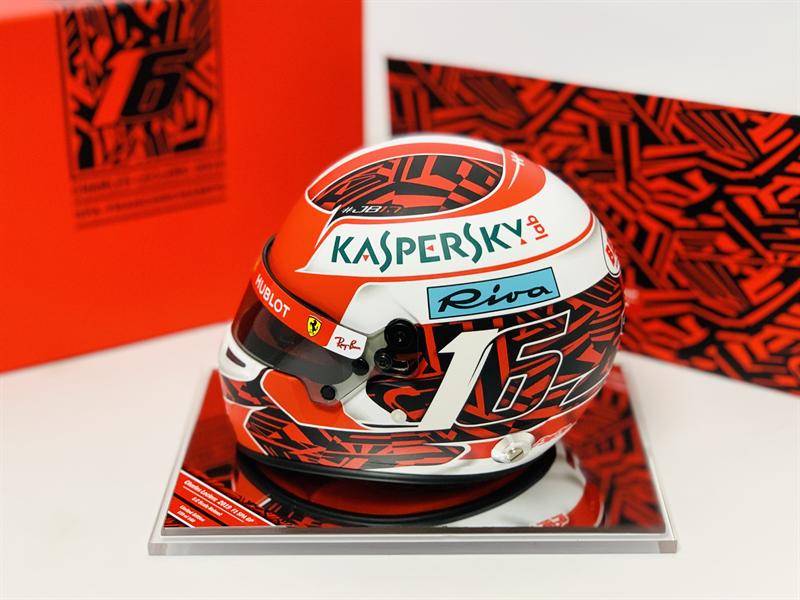 Helma Charles Leclerc 2019 Spa 1 víťazstvo  Ferrari Bell 1:2 Helmet. Deluxe Edition in Presentation Case Ltd 160pcs
