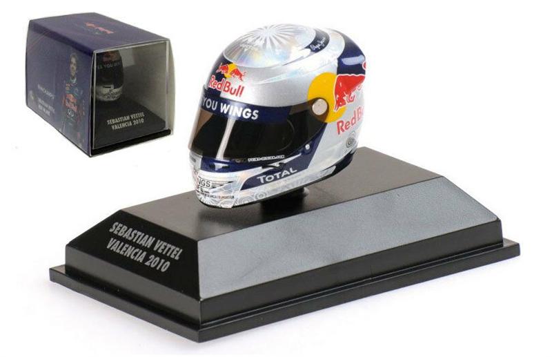 Minichamps Arai Helma Valencia European GP 2010 - Sebastian Vettel 1/8 Scale