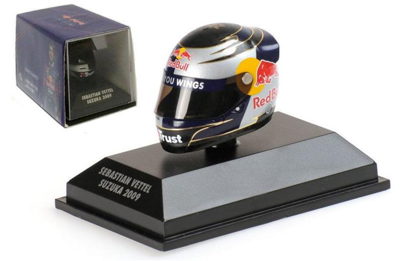 Minichamps Arai Helma Suzuka Japanese GP 2009 - Sebastian Vettel 1/8 Scale