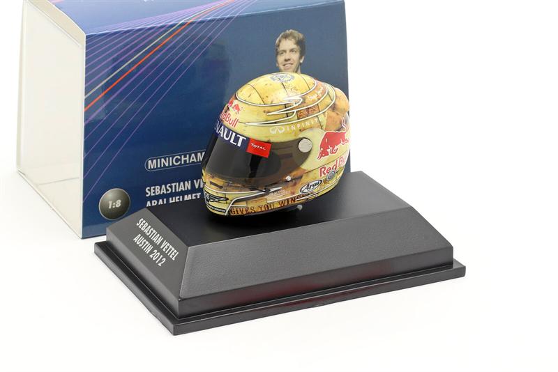 Minichamps Arai Helma Austin 2012 - Sebastian Vettel 1/8 Scale