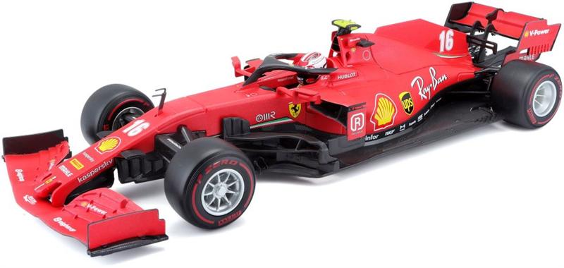 Model Ferrari SF1000 BURAGO - 1/18 - - F1 TEAM SCUDERIA FERRARI MISSION WINNOW N 16 2nd AUSTRIAN GP 2020 CHARLES LECLERC - WITH SOFT RED WHEELS - MATT