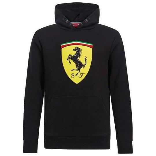 Detská Mikina Scuderia Ferrari čierna.