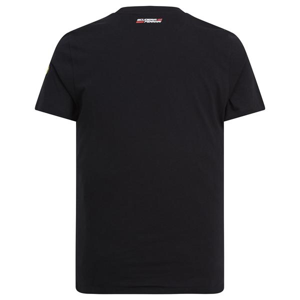 Tričko Scuderia Ferrari Shield čierne