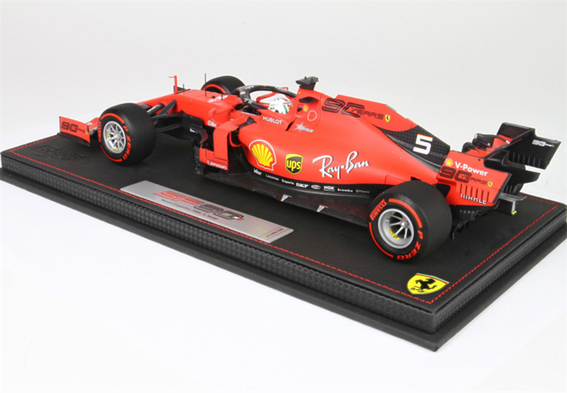 BBR Model Ferrari SF90 GP Italy Monza 2019 Vettel Display Included