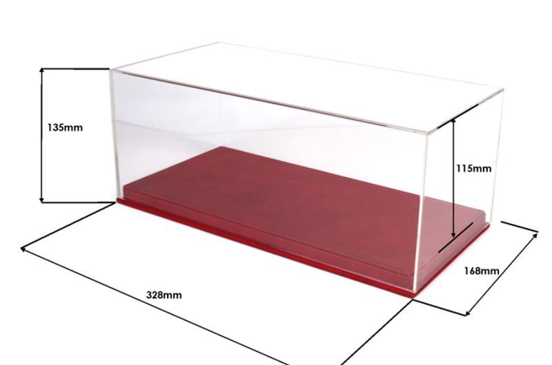 Plastová vitrína s podložkou na Modely 1:18