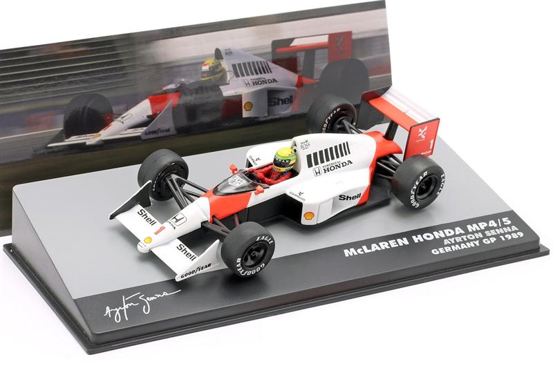 Model Ayrton Senna McLaren MP4/5 #1 Germany GP Formula 1 1989 1/43 Altaya
