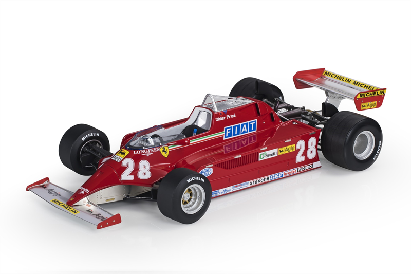 GP REPLICAS MODEL FERRARI - F1 126CK N 28 SEASON 1981 D.PIRONI 1:12