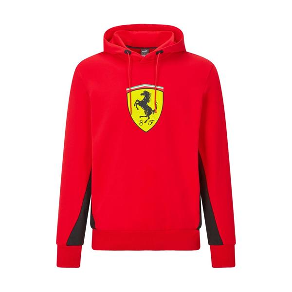 Mikina Scuderia Ferrari s kapucňou červená