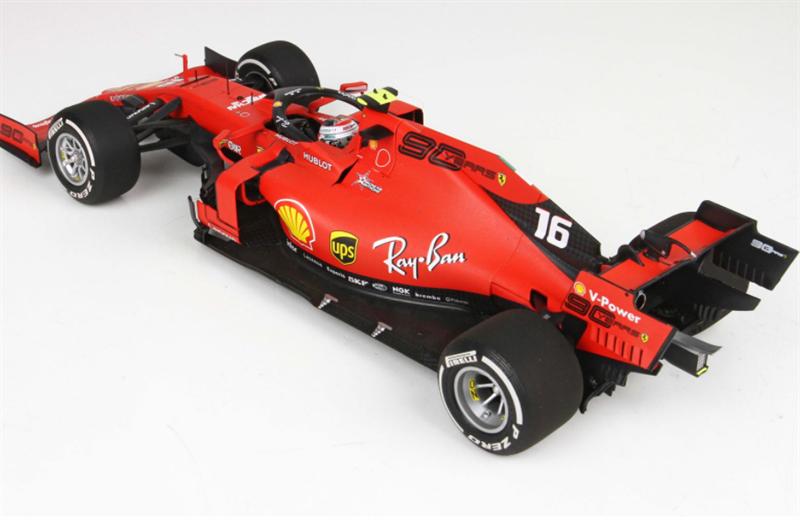 BBR Model Ferrari SF90 GP Italy Monza 2019 Leclerc