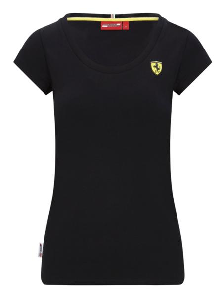 Dámske tričko Scuderia Ferrari V Neck čierne