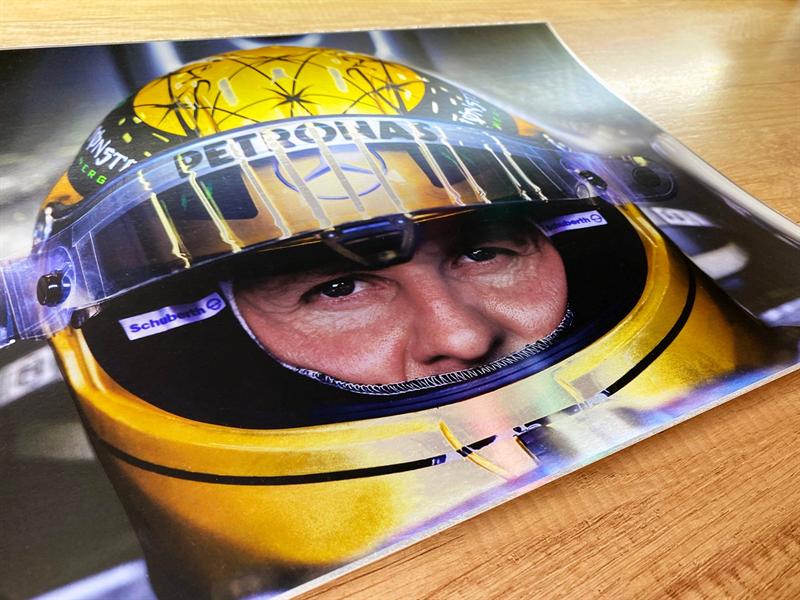 The Golden Helmet, Schumacher 30 years limited edition print