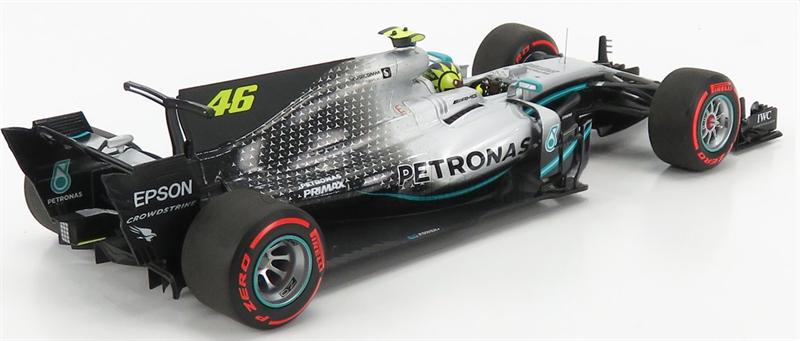 MINICHAMPS MODEL VALENTINO ROSSI MERCEDES-AMG F1 W08 #46 RIDE SWAP VALENCIA 2019