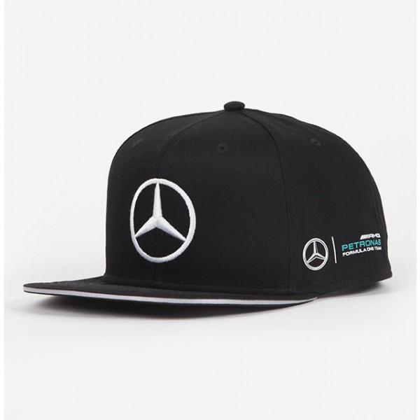 Šiltovka Mercedes AMG PETRONAS Lewis Hamilton čierna Flat Cap