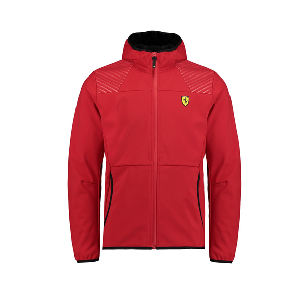 2018 Ferrari F1 Fanwear Mens SF Softshell Jacket Red
