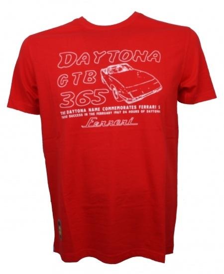 Ferrari 365GTB Daytona S/S tričko červené